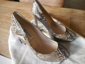 L K BENNETT Size 3 snakeskin court shoe, a real classic LK Bennett pair of shoes.