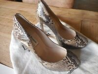 L K BENNETT Size 3 snakeskin court shoe, a real classic LK Bennett pair of shoes.