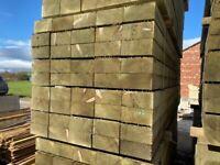 🌻 Tanalised Wooden/ Timber Railway Garden Sleepers ~ New ~ 195x95x3m