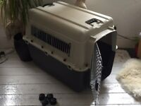 XL Dog Kennel Crate with attachable wheels IATA approved