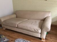 3 Seater Leather Couch, Loveseat and Footstool for Sale