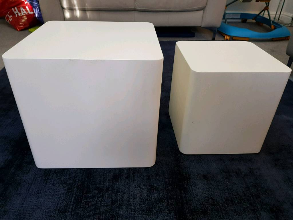 Dwell Square Stacking Side / Coffee Tables White