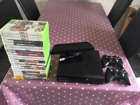 X box 360 with Kinect plus games bundle