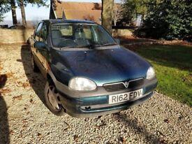 Vauxhall Corsa 1.4 1997 Low mileage, automatic