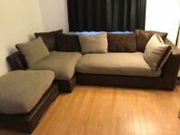 DFS corner sofa and spin cuddle chair
