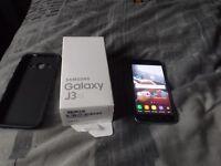 Samsung galaxy j3 2016 8gb in black in box