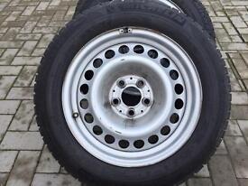 """Genuine Mercedes Benz C Class 16"""" steel wheels with winter tyres"""