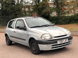 2001 RENAULT CLIO, LOW MILES, SERVICE HISTORY LADY OWNER