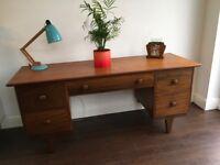 Vintage Teak Desk / Dressing Table Mid Century Retro