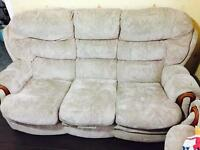 Sofa and arm chairs for sale (£45)