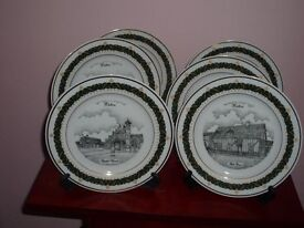 6 collecters plates views of Histon