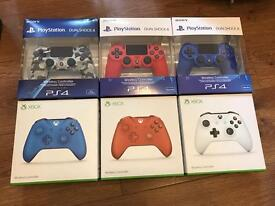 Brand new sealed Xbox one and PS4 controllers £35 each