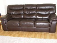 Cassina - 3 Seater Brown Leather Sofa Bed