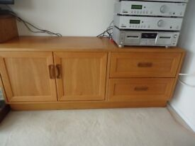 G PLAN TV unit with cupboard and drawer