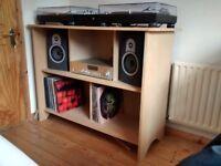 DJ turntable decks stand table desk