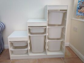 IKEA white combination trofast storage