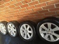 "Genuine Mercedes 16"" 5x112 alloys Audi VW Seat Skoda A B C E S R Class CLK Vito Yokohama tires"
