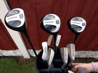 Donnay golf cubs and bag for sale