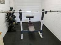 Body max Olympic bench press with weights