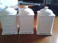 canister set tea-coffee-sugar
