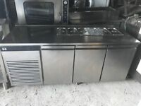 BEAUTIFUL LATEST MODEL ALL KITCHEN SALAD PIZZA TOPPING MEZE FRIDGE CATERING COMMERCIAL FOSTER MADE