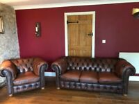 CHESTERFIELD Antique English Brown sofas