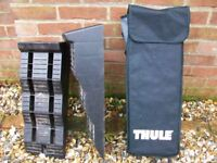 "Thule 'Large levelling blocks ' and Monster Non Slip mats 32"" x 11"""
