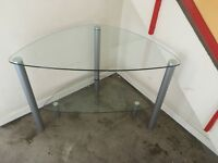 CORNER GLASS TV UNIT
