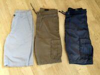 3 Pairs Boys H&M Shorts Age 12-13