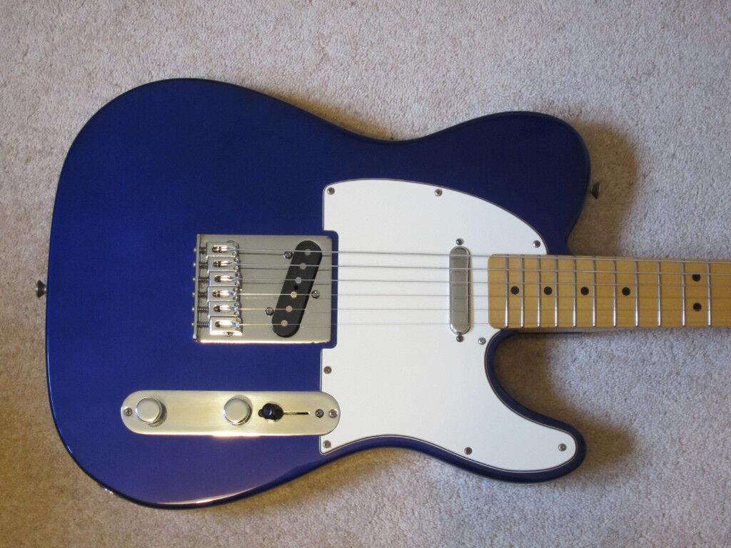Fender telecaster midnight blue mim mexico maple neck in stretton fender telecaster midnight blue mim mexico maple neck publicscrutiny Gallery