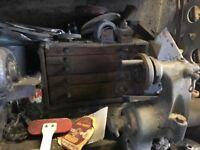 Engineers tool cabinet and tools, vintage