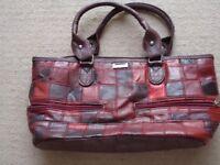 Red Leather Patchwork Rosa Benini handbag
