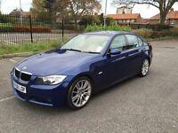 BMW 320D M SPORT LE MANS BLUE FSH - AUTOMATIC CREAM LEATHER INTERIOR HEATED SEATS SAT NAV PRICE DROP