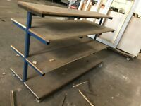 Industrial Shelf Trolley / Racking - 200cm Long - 4 Shelves High