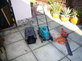 Bosch Electric Mower & Flymo Hedge Cutter in Great Working Condition