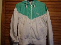 White and Green Nike Jacket