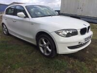BMW 1 Series 2009 2.0 116i Sport White Hatchback 5d 1995cc SPARE OR REPAIR