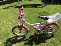 Girls bike 14 inch 4-6 years approx