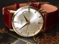 Vintage solid 14k gold mens Roamer Automatic Swiss watch