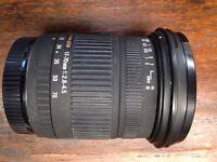 Sigma 17-70 f/2.8-4.5 DC lens (Canon EOS)