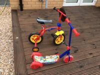 Scooter and brand new bike for sale £30