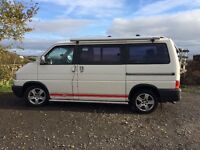 VW T4 Campervan, rock and roll bed, gas cooker, fridge, electric hook up, fiamma awning, bike rack