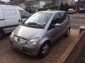 mercedes A-class, 1,6 patrol, 81500miles, fully loaded