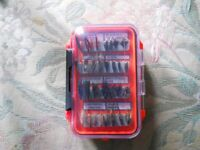 64 classic trout flies all labelled in a new waterproof double sided box.