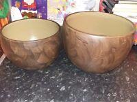 2 x plant pots