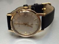 Vintage 9k 9ct solid gold mens Everite watch