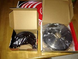 Rear Drums and pads for Toyota Yaris and Verso