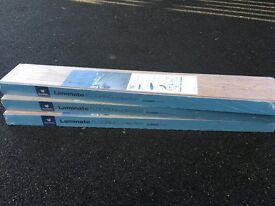 Oak Laminate Flooring Kaindl 8.0. 3 packs of oak laminate flooring - 7.2 square metres in total.