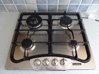 Cuisina Gas Hob, 4 burner, stainless steel, excellent condition, fully working