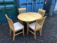Extending Dining Table & 4 Chairs (Delivery Included)